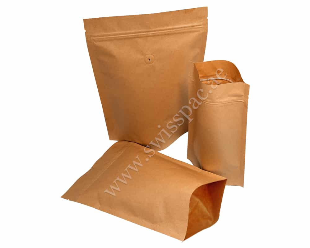 Brown Stripped Paper Pouches
