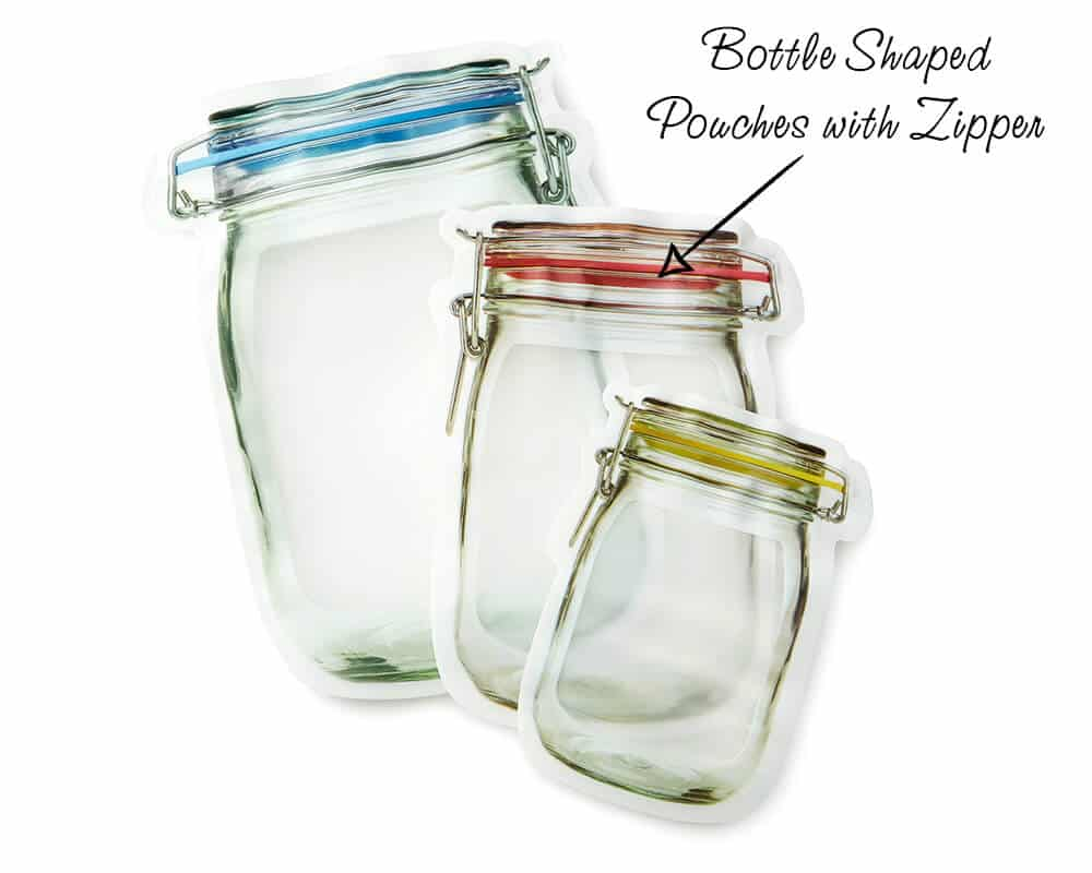 Bottle Shaped Pouches