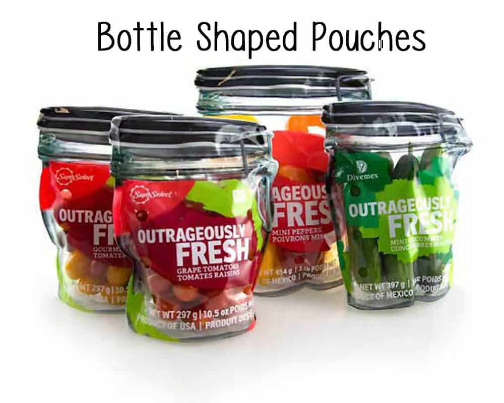 Bottle Shaped Pouches With Zipper