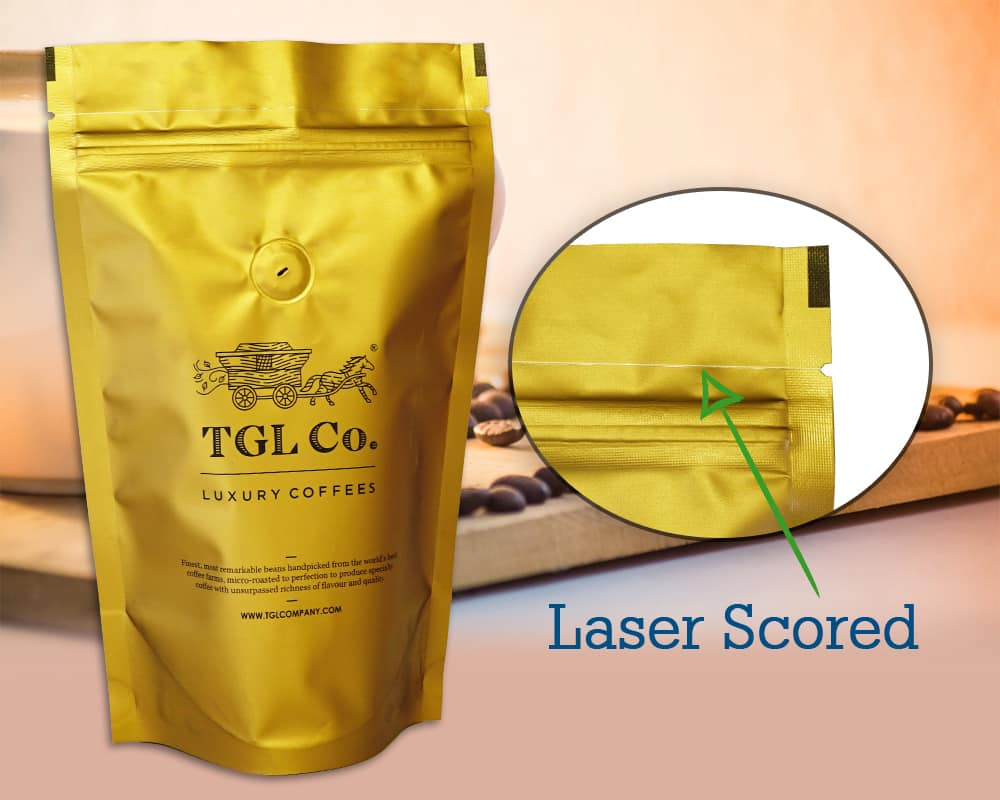 Laser Scored No Damage Zipper Pouches