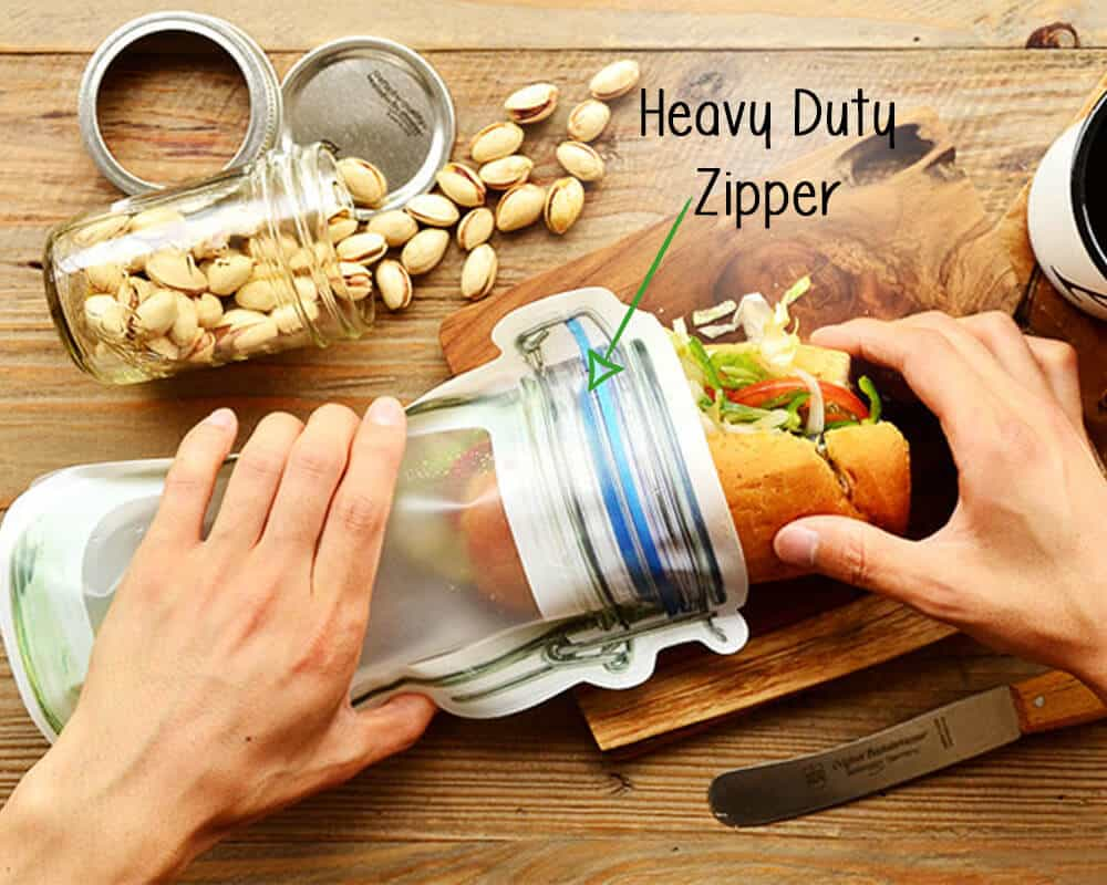 Jar Shaped Pouches With Zipper