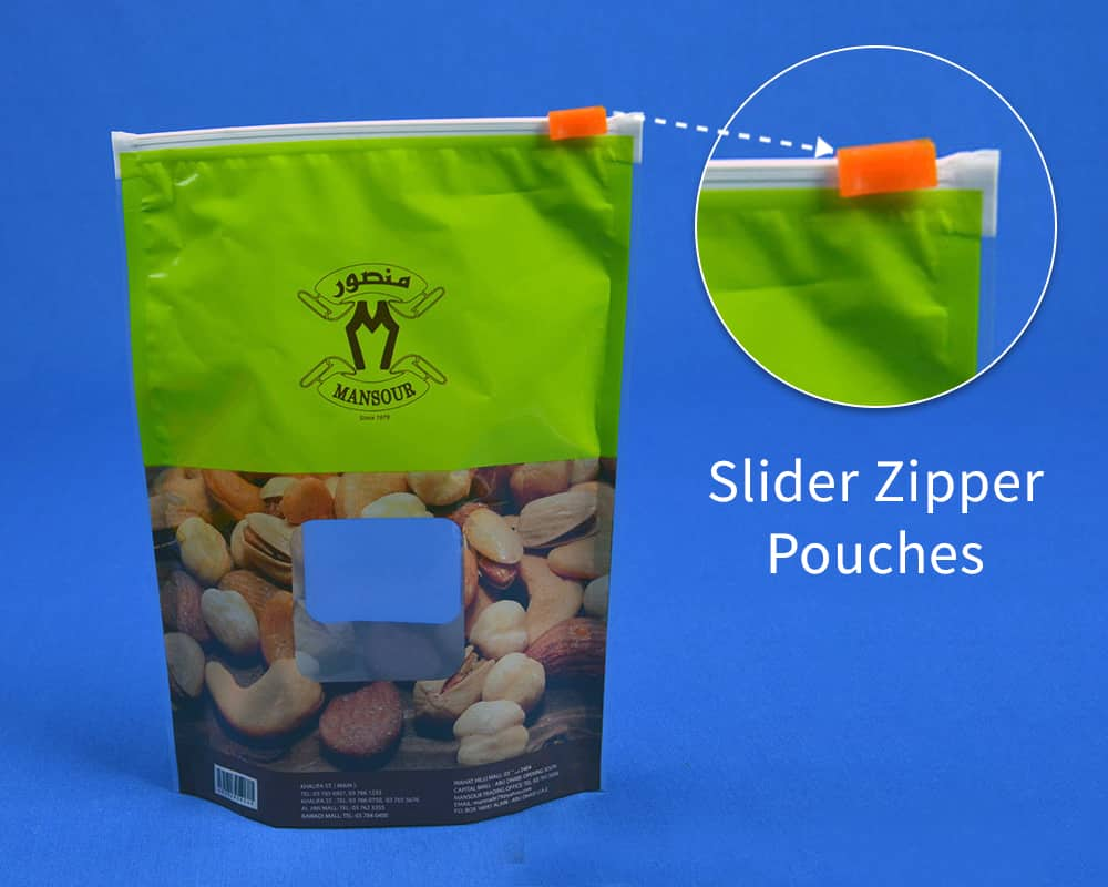Slider Zipper Pouches